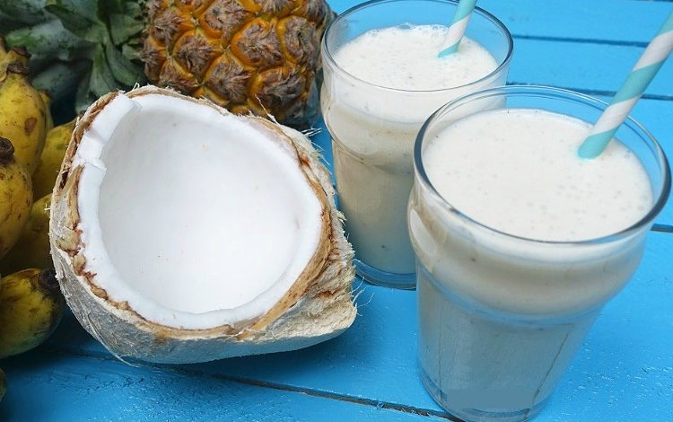 sinh tố dừa bao nhiêu calo
