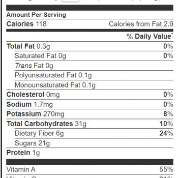 persimmon calories
