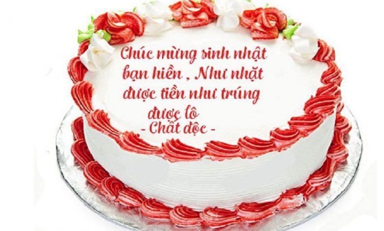 viết gì lên bánh sinh nhật tặng bạn thân