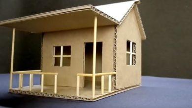 cách làm ngôi nhà bằng giấy